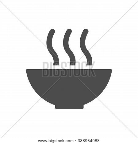 Hot Soup Bowl Line Icon, Outline And Filled Vector Sign, Linear And Full Pictogram Isolated On White