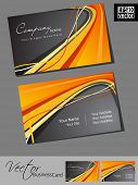 Abstract professional and designer business card template or visiting card set with grey and orange color wave pattern. EPS 10. Vector illustration. poster