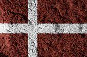 Denmark detailed grunge flag stone texture background. poster