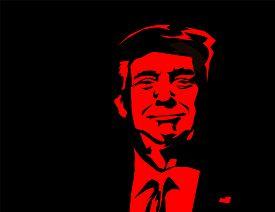 Washington D.c. Usa - Dec, 2019: Vector Illustration Of American President, Donald Trump. Us Preside