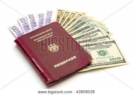 European Union Passport With Money