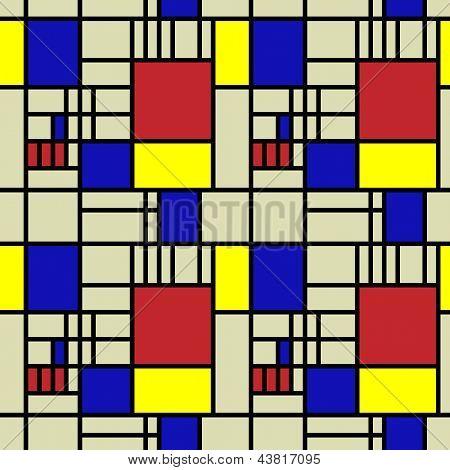 art vintage geometric pattern background in Mondrian style