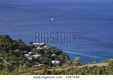 Water Off The Island Of St. Lucia