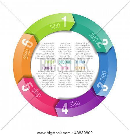 Circular arrows design template. Fully editable vector.