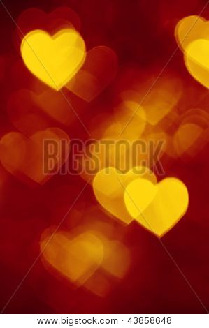 red and golden bokeh background