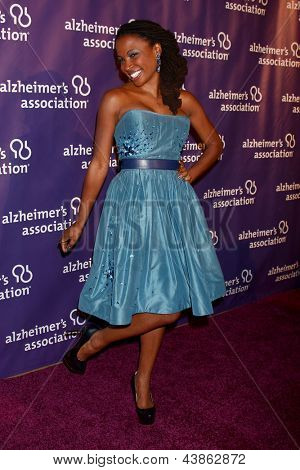 LOS ANGELES - MAR 20:  Shanola Hampton arrives at the 21st Annual A Night at Sardi's to Benefit the Alzheimer's Association at the Beverly Hilton Hotel on March 20, 2013 in Beverly Hills, CA