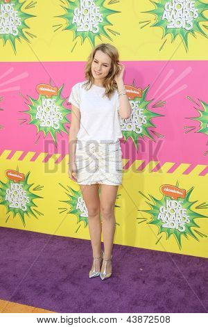 LOS ANGELES - MAR 23:  Bridgit Mendler arrives at Nickelodeon's 26th Annual Kids' Choice Awards at the USC Galen Center on March 23, 2013 in Los Angeles, CA