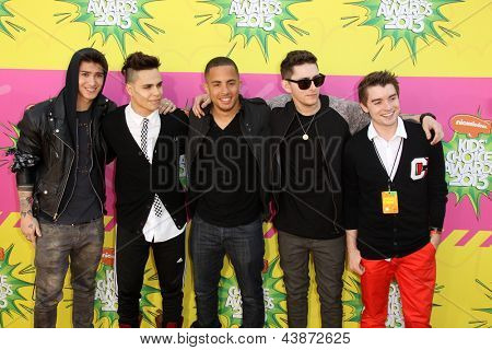 LOS ANGELES - MAR 23:  Midnight Red arrives at Nickelodeon's 26th Annual Kids' Choice Awards at the USC Galen Center on March 23, 2013 in Los Angeles, CA