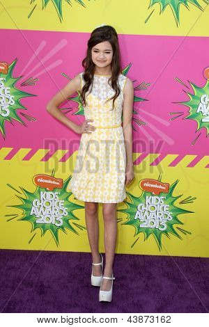 LOS ANGELES - MAR 23:  Ciara Bravo arrives at Nickelodeon's 26th Annual Kids' Choice Awards at the USC Galen Center on March 23, 2013 in Los Angeles, CA