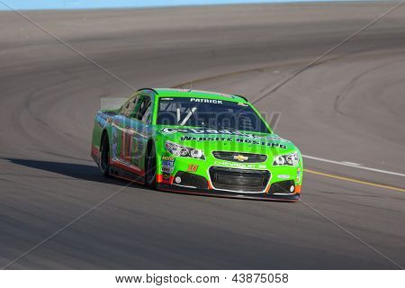 AVONDALE, AZ - MAR 01, 2013:  Danica Patrick (10) takes her car on the track and qualifies 40th for the Subway Fresh Fit 500 race at the Phoenix International Raceway in  Avondale, AZ on Mar 01, 2013.