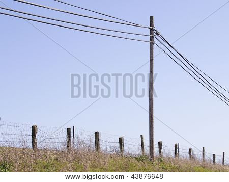 Rural Telephone Pole and Wires