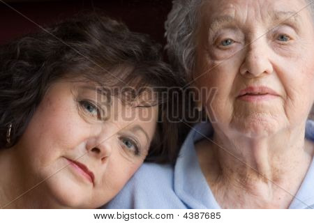 Elderly Mother And Daughter
