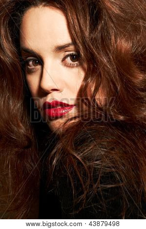 Beautiful young woman. Fashion shot