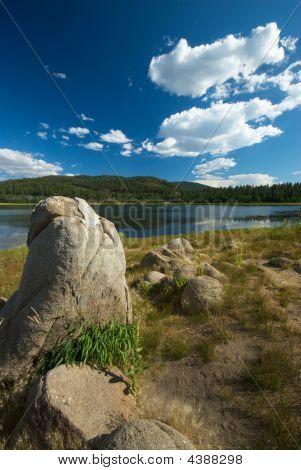 Boulders And Lake