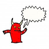 shouting little demon poster