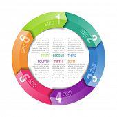 Circular arrows design template. Fully editable vector. poster