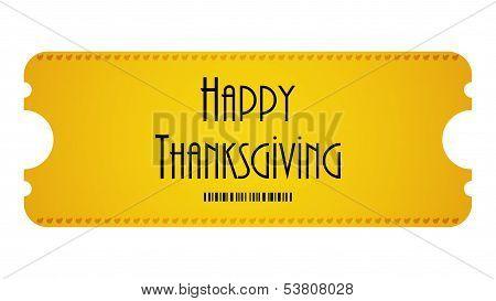 Happy Thanksgiving Ticket