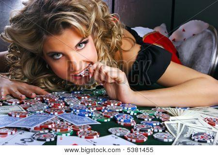 Poker And Girl