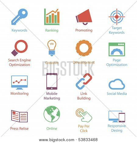 Color Internet Marketing Icons Vol 1