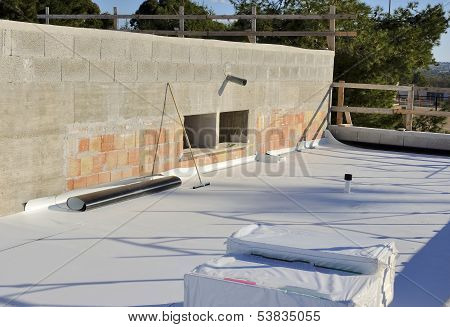 waterproofing and insulation pvc terrace