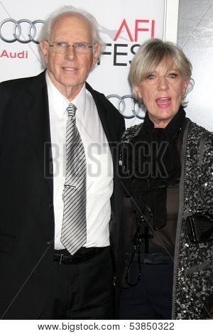 LOS ANGELES - NOV 11:  Bruce Dern, Andrea Beckett at the