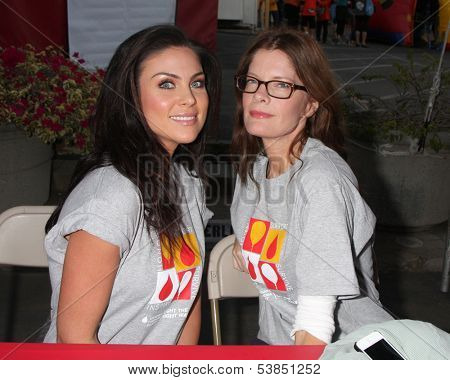 LOS ANGELES - OCT 6:  Nadia Bjorlin, Michelle Stafford at the Light The Night The Walk to benefit the Leukemia-Lymphoma Society at Sunset-Gower Studios on October 6, 2013 in Los Angeles, CA