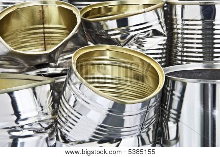 Pile Of Tin Cans