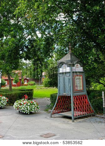 Traditional Swedish Telefon In Sigtuna And Park (sweden)