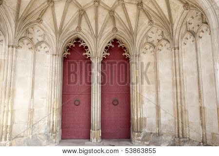 Main Door of Winchester Cathedral Church England; UK;