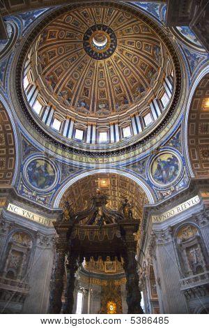 Vatican Inside Michaelangelo]s Dome Rome Italy