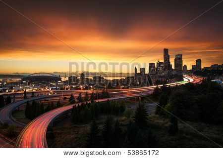 Seattle at sunset