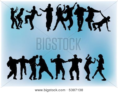 Crowd Dancing.