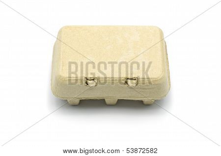 Carton Box For Eggs Isolated On White.