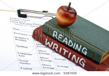 School Books And Report Card