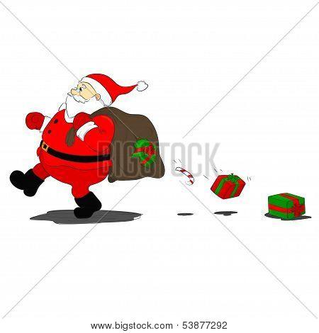 Santa Klaus Loses Gifts