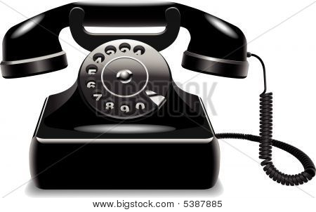 Outdated Black Telephone