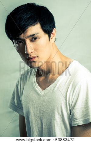 Young man model posing for fashion