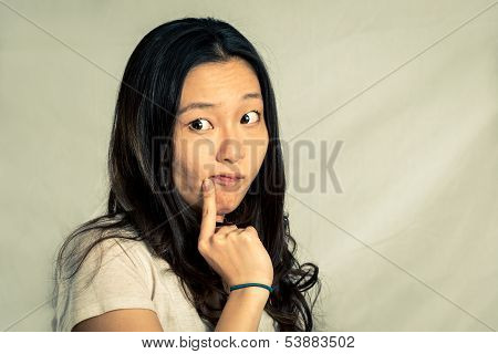 Girl with cute pose