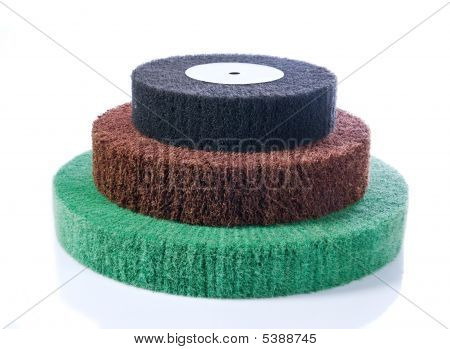 Three Abrasive Wheels