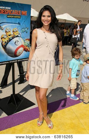 LOS ANGELES - APR 11:  Joyce Giraud at the Despicable Me Minion Mayhem  and Super Silly Fun Land at Universal Studios Hollywood on April 11, 2014 in Universal City, CA