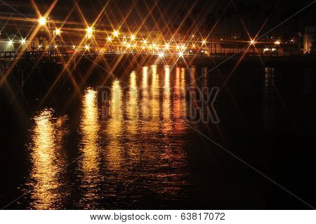 star lights on wharf
