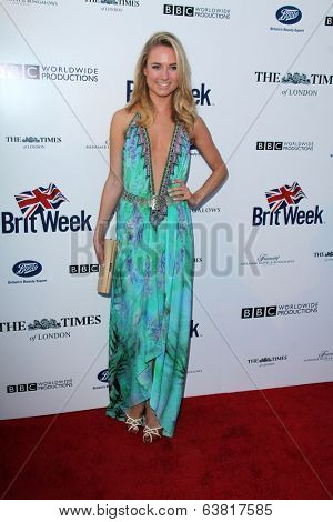 LOS ANGELES - APR 22:  Kimberley Garner at the 8th Annual BritWeek Launch Party at The British Residence on April 22, 2014 in Los Angeles, CA