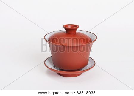Chinese Ceramic Gaiwan Orange