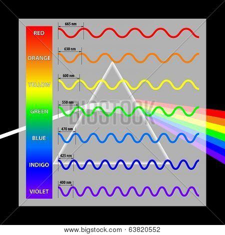Wavelength Colors In The Spectrum