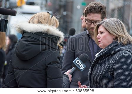 Andrea Horwath at Jim Flaherty State Funeral in Toronto