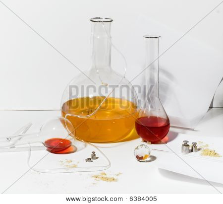 Items from laboratory chemists.