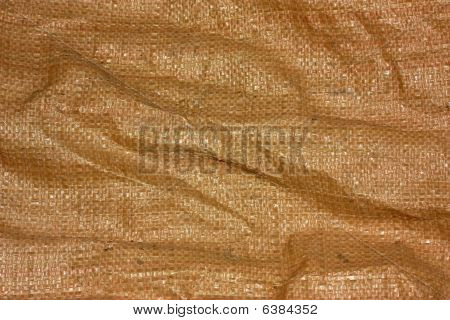 Wrinkled Brown Canvas Sack Texture
