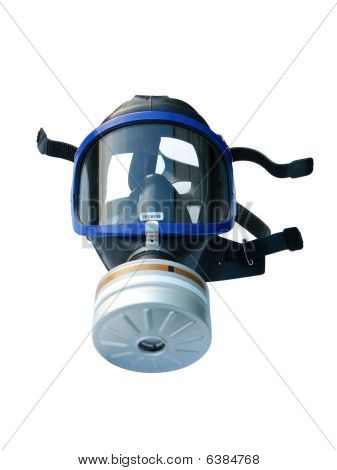 Gas Mask Isolated On White, With Clipping Path