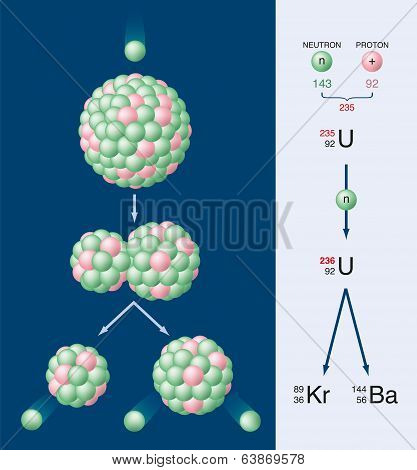 Nuclear Fission Of Uranium 235