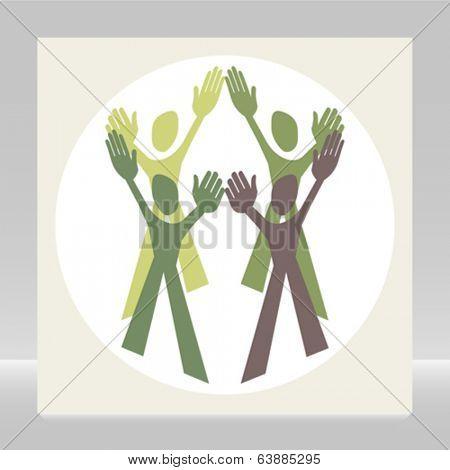 Teamwork design vector.
